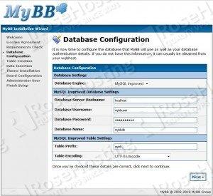 mybb database