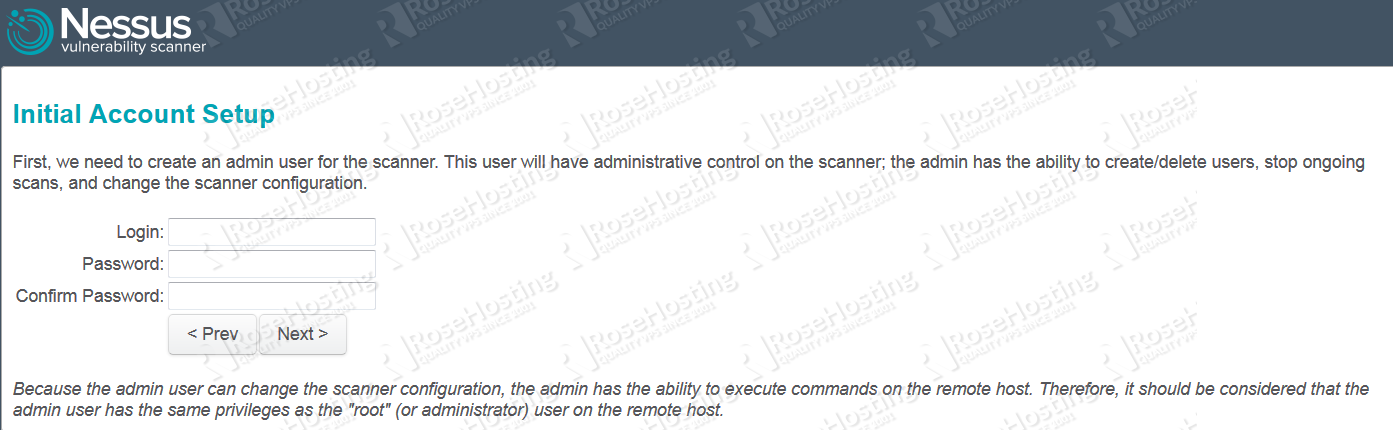 Install Nessus Vulnerability Scanner on CentOS | RoseHosting