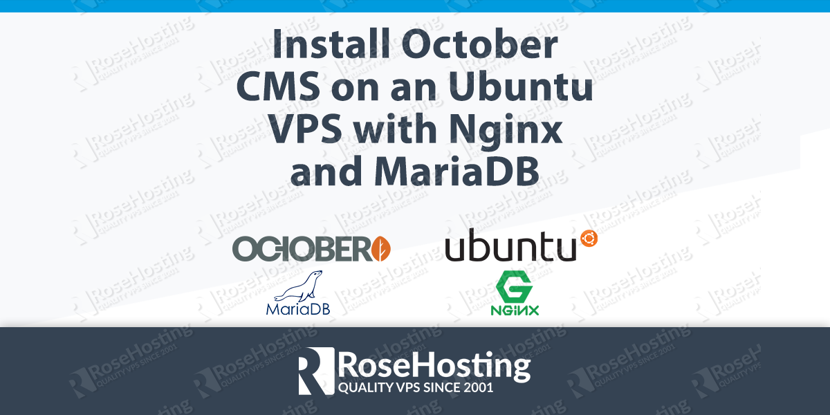 Install October CMS on Ubuntu, with Nginx and MariaDB