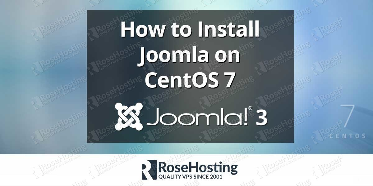 How to Install Joomla on CentOS 7
