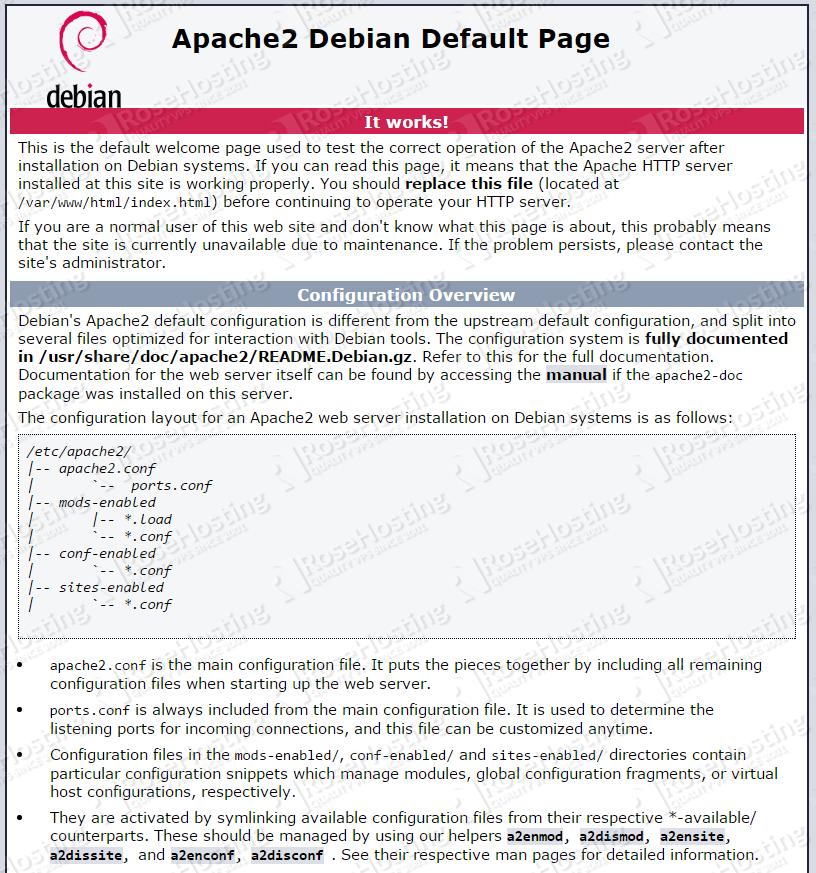 Install LAMP on Debian 8