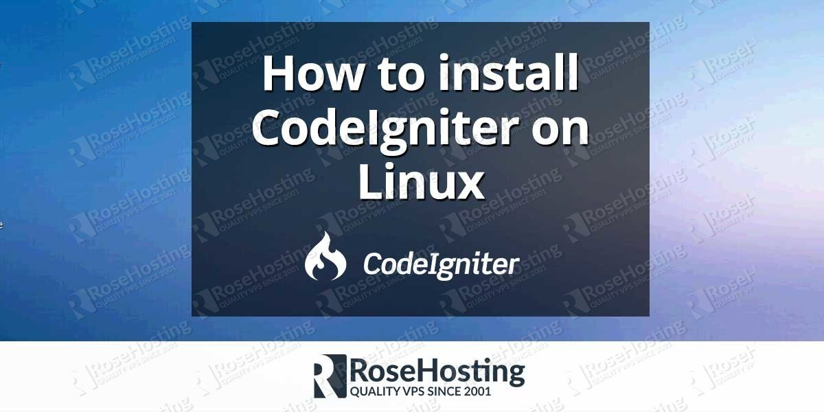 How to install CodeIgniter on Linux