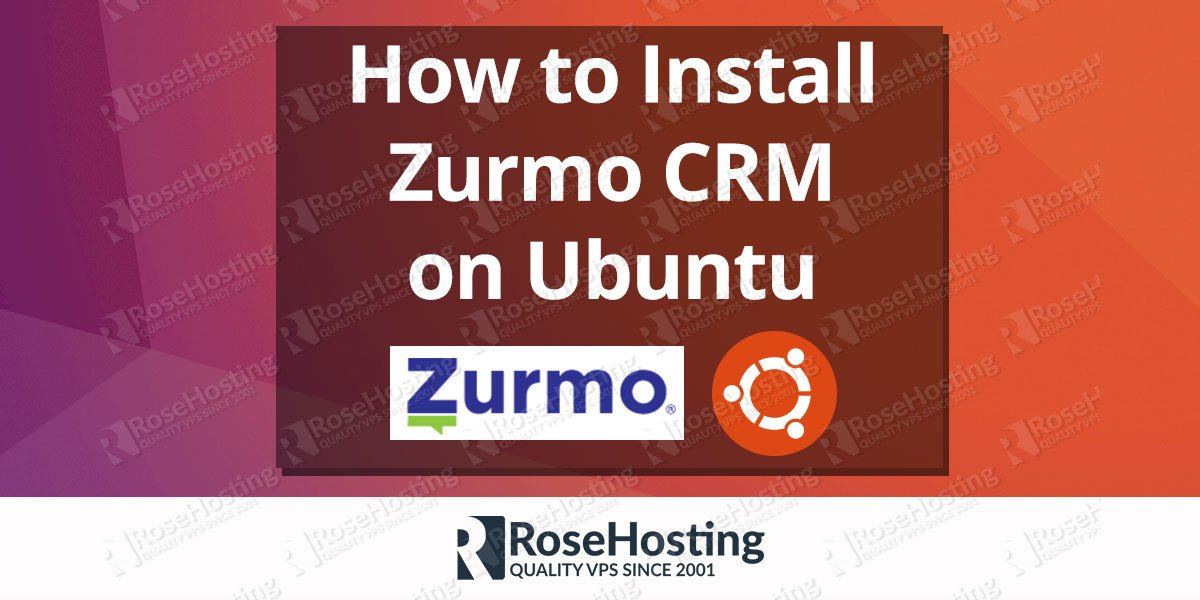 Install Zurmo CRM on Ubuntu