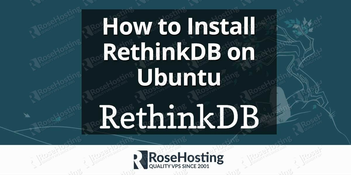 Install RethinkDB on Ubuntu