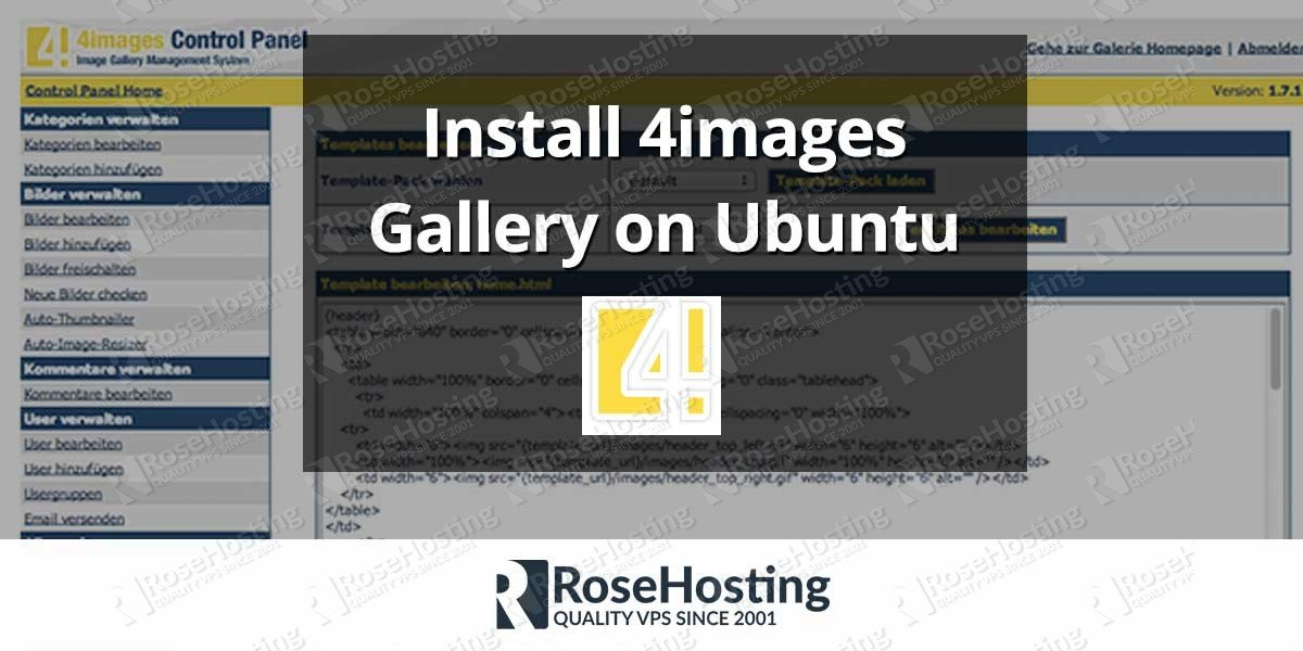 Install 4images Gallery on Ubuntu