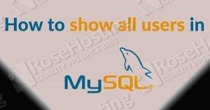 mysql show users