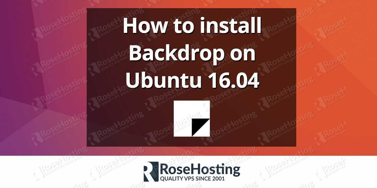 How to install Backdrop on Ubuntu 16.04