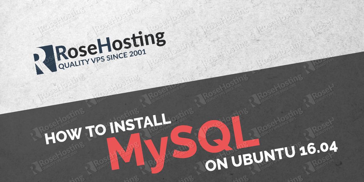 install mysql on ubuntu 16.04