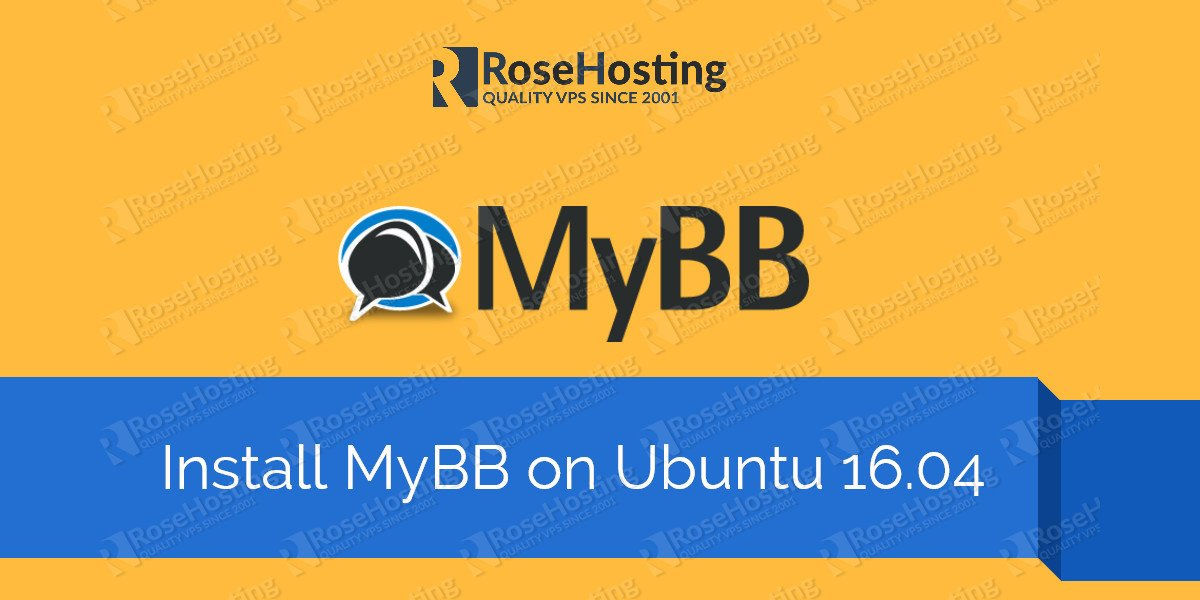 Install MyBB on Ubuntu 16.04