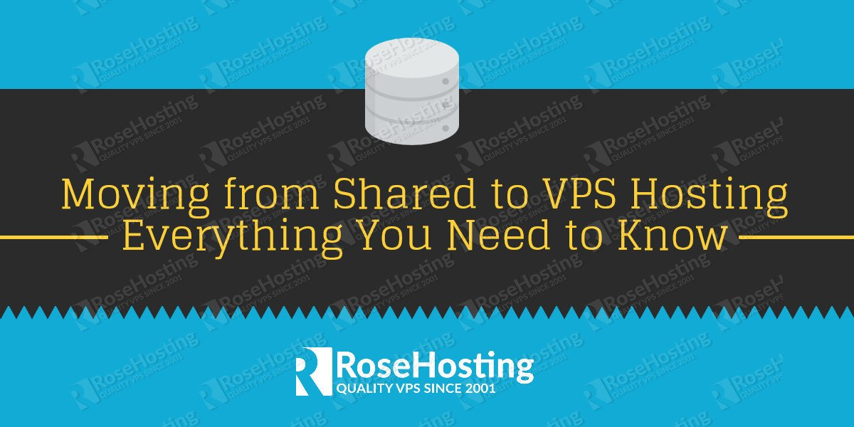 from shared to vps hosting