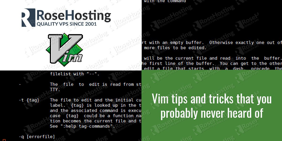 vim tips and tricks