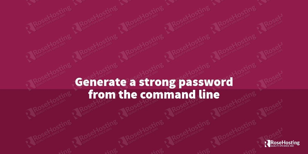 Generate a random password from the command line in Linux