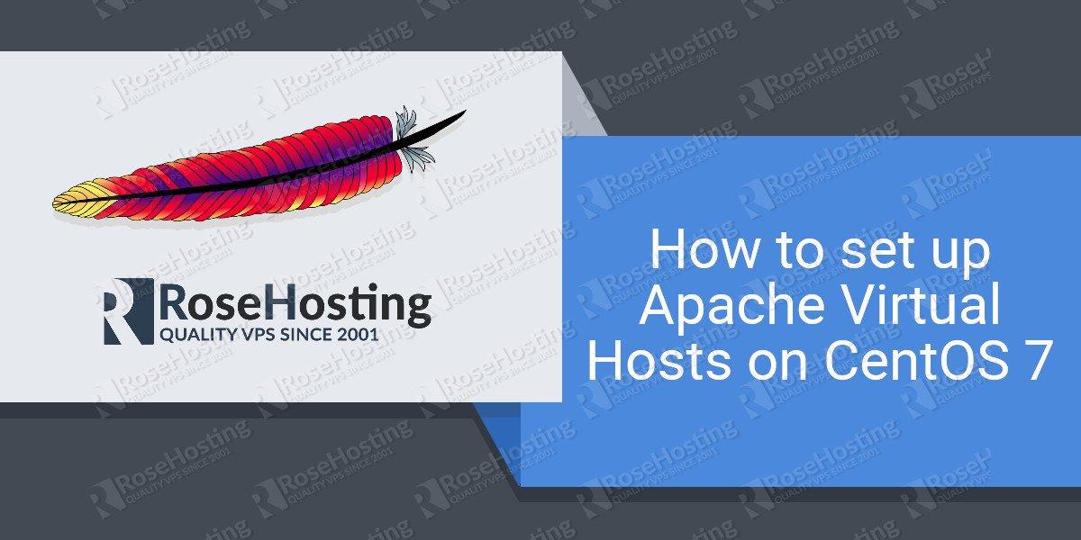 setup apache virtual hosts on centos 7