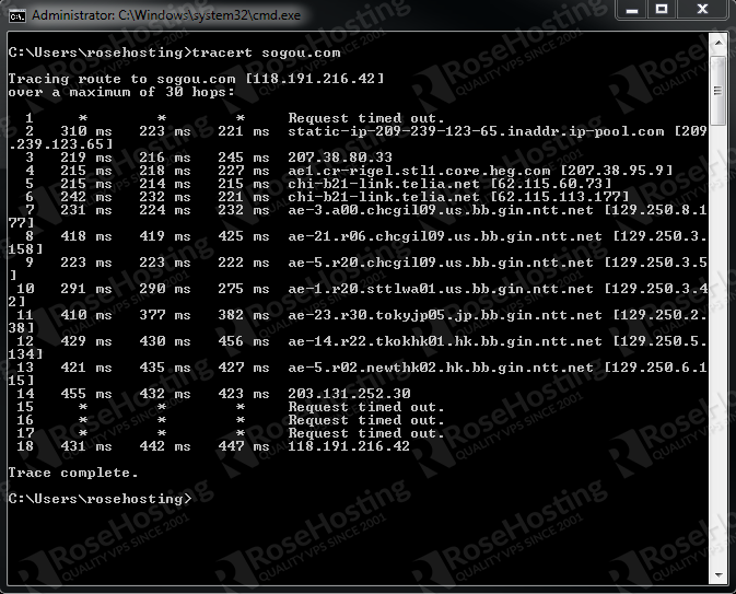 How to use traceroute in Linux | RoseHosting