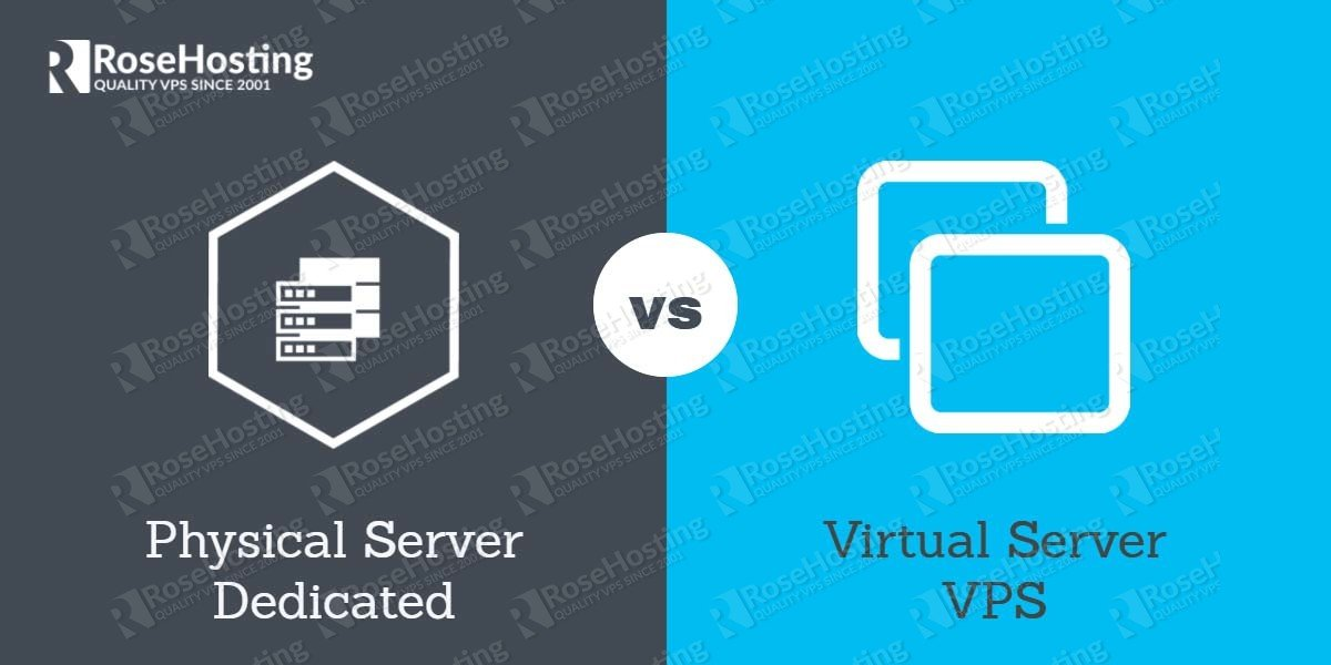 Physical server vs Virtual server