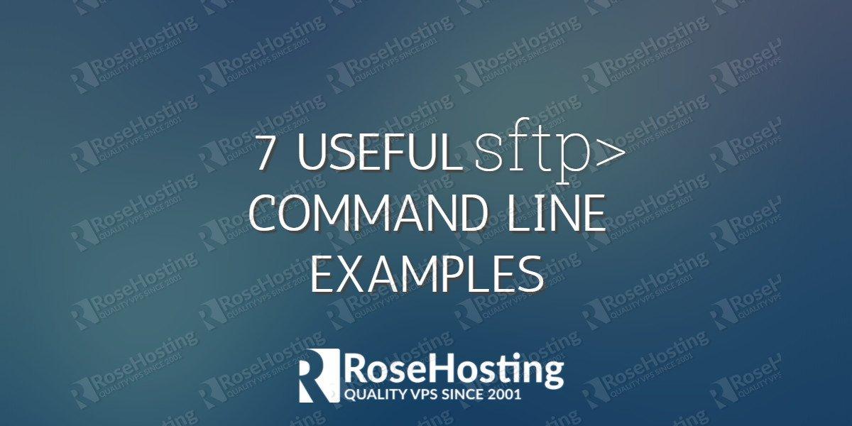 sftp commandline examples