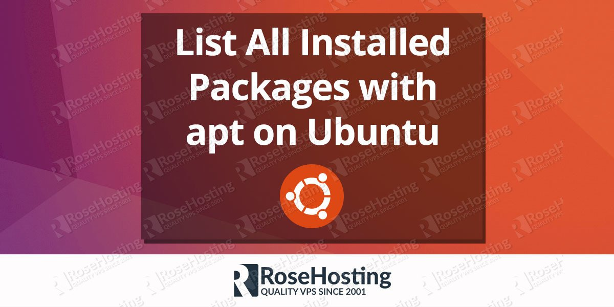 apt-get list installed | List All Installed Packages with apt on Ubuntu
