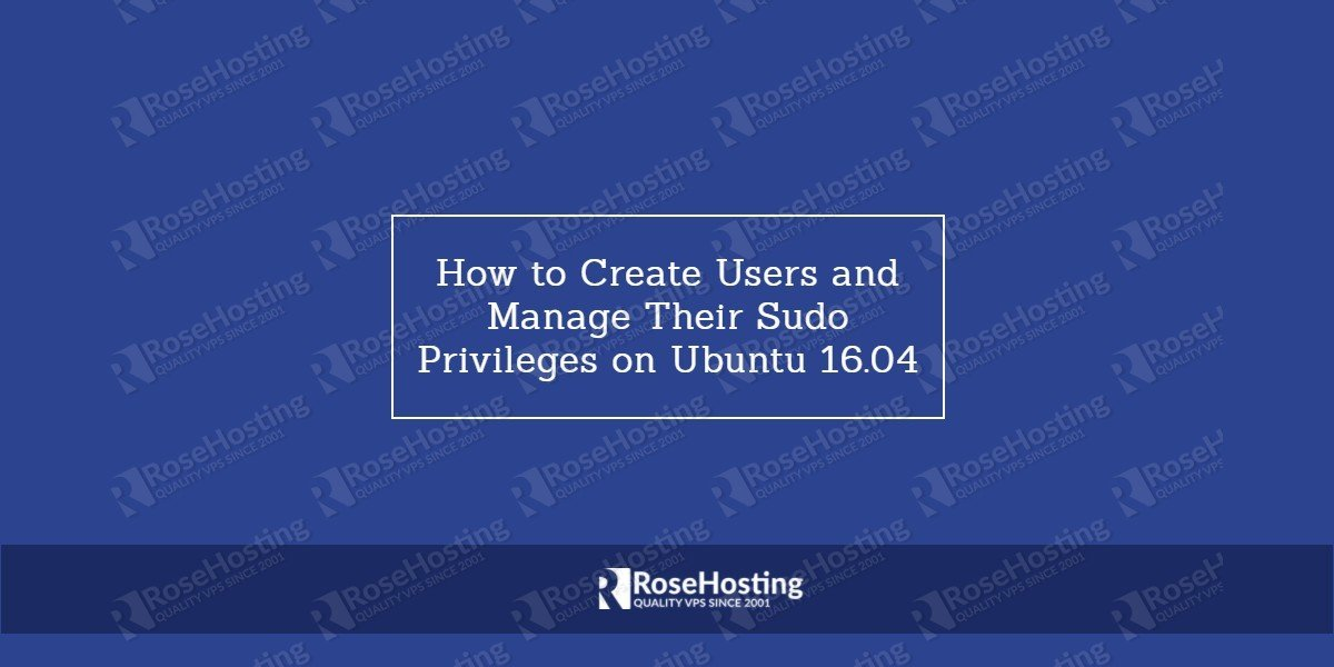 How To Create a Sudo User on Ubuntu