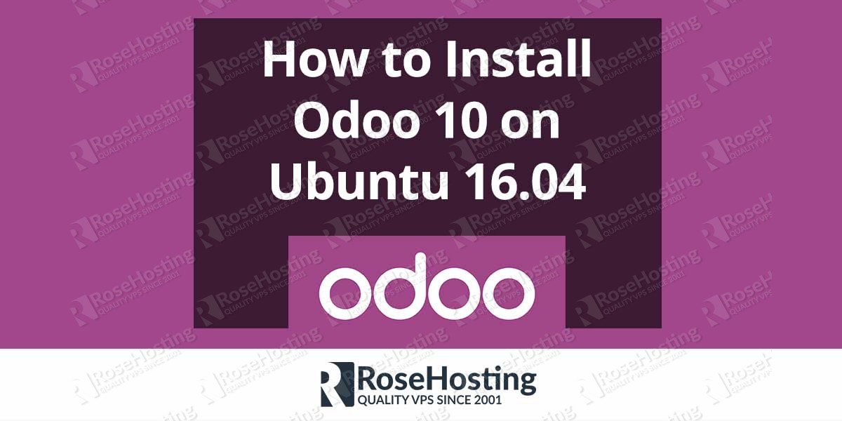 How to Install Odoo 10 on Ubuntu 16.04