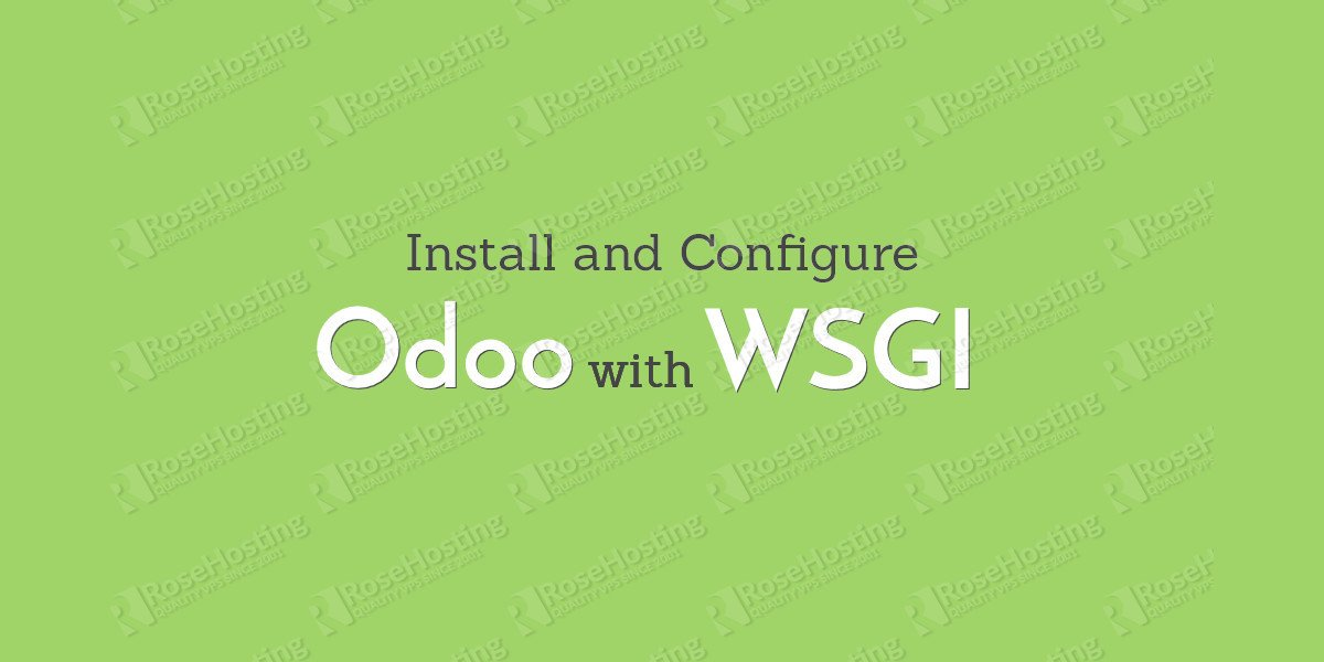 How to Install and Configure Odoo with mod_wsgi