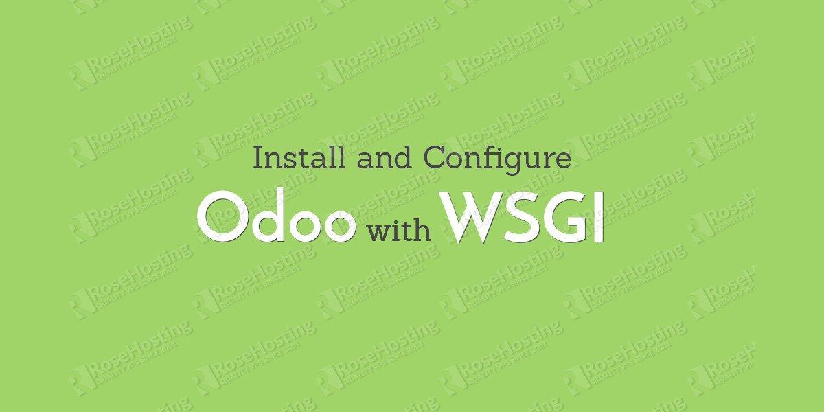 odoo with mod wsgi