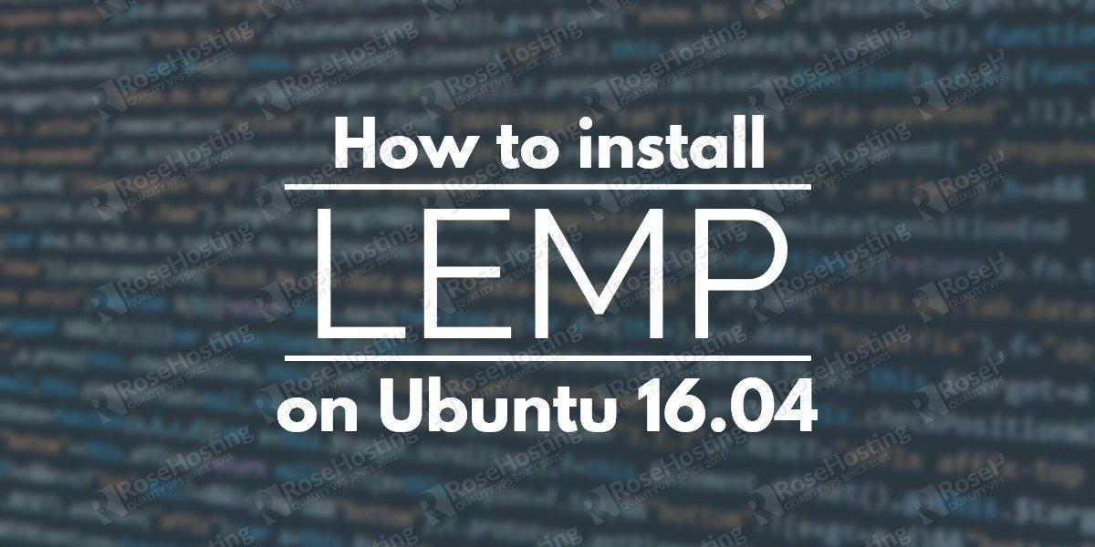 lemp ubuntu 16.04
