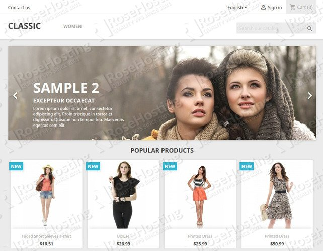 prestashop ecommerce software
