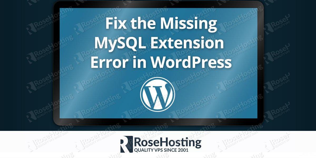 Missing MySQL Extension