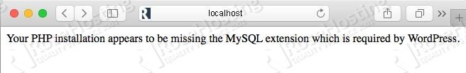 Your PHP installation appears to be missing the MySQL extension error in WordPress