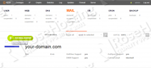 vestacp add domain email accounts
