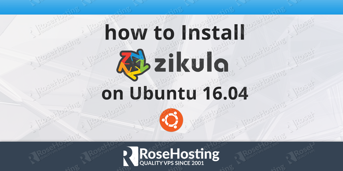 How to Install Zikula on Ubuntu 16.04