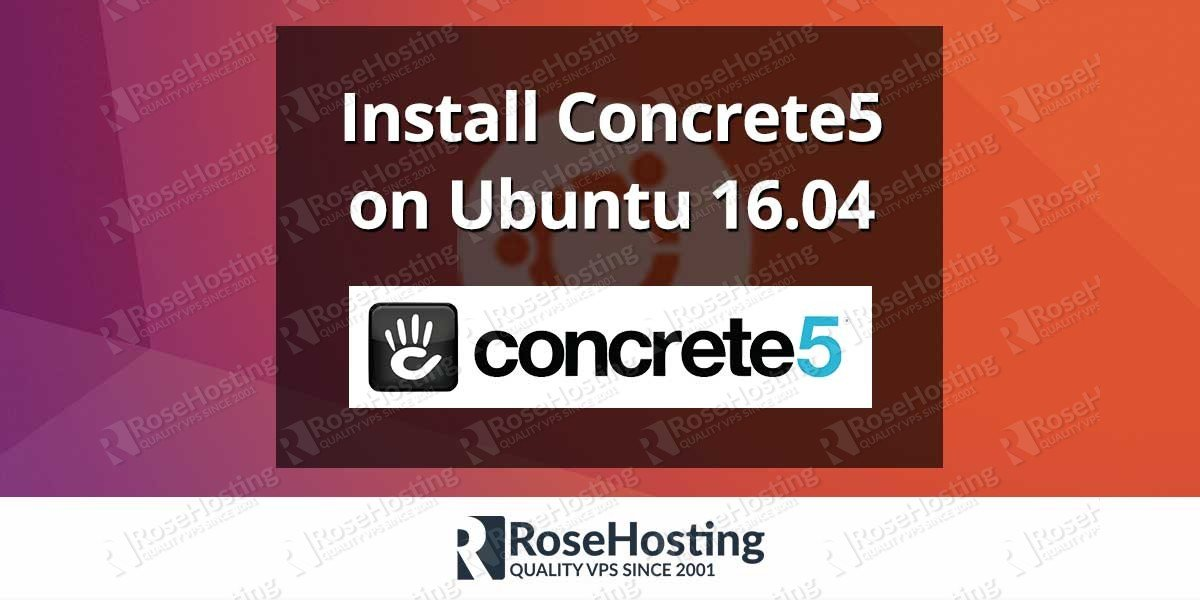 Install Concrete5 on Ubuntu 16.04