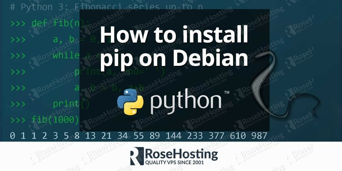 How to Install pip on Debian 9 | RoseHosting