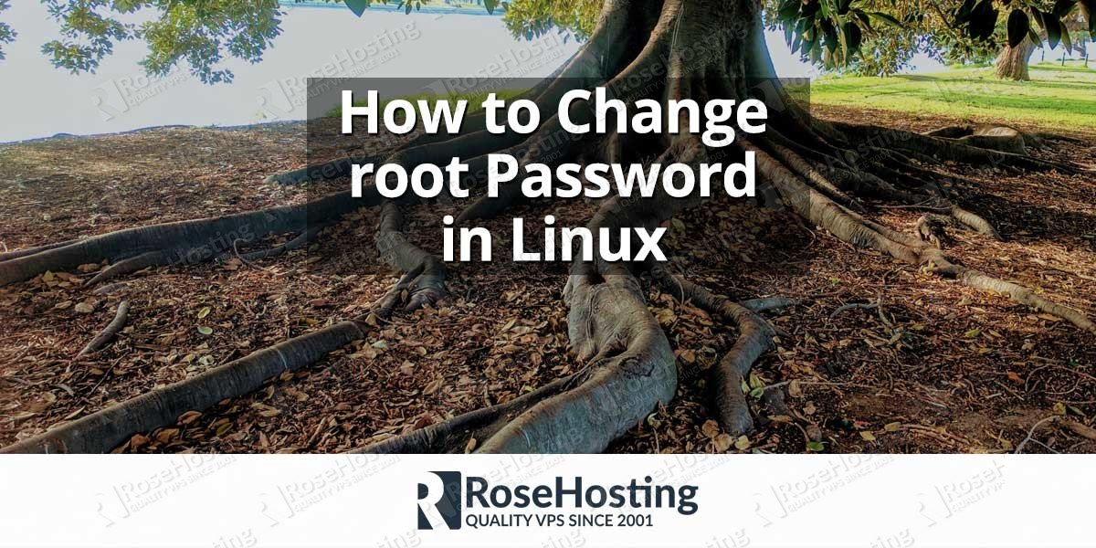 how to change root password in linux