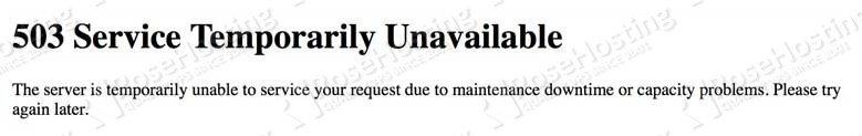 Fix 503 Service Unavailable Error in WordPress