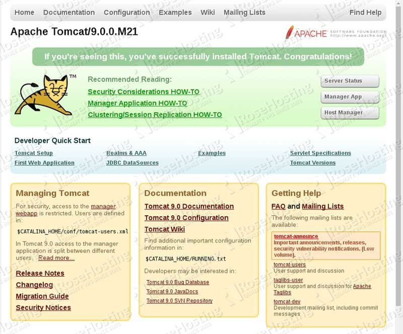 How to Install Tomcat 9 on Debian 9 | RoseHosting