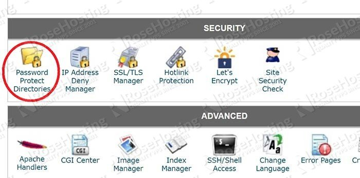 How to Add Password Protection for a Directory Using cPanel