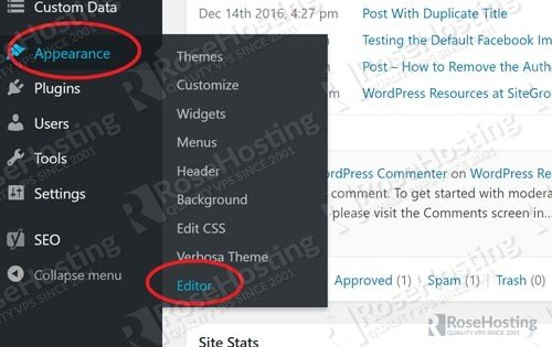 Add Code to functions.php in WordPress
