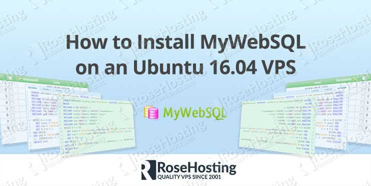 How to Install MyWebSQL on Ubuntu 16.04