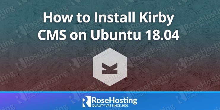 Install Kirby CMS on Ubuntu 18.04