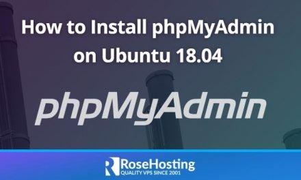 How to Install phpMyAdmin on Ubuntu 18.04