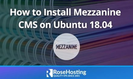 How to Install Mezzanine CMS on Ubuntu 18.04