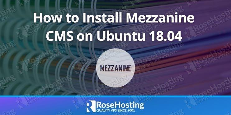 Install Mezzanine on Ubuntu