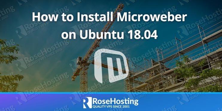 Install Microweber on Ubuntu 18