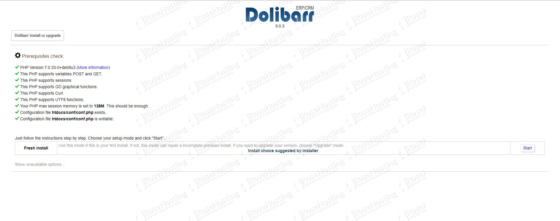 Dolibarr prerequisites checker