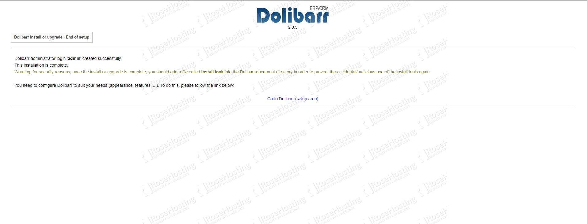 Dolibarr installation