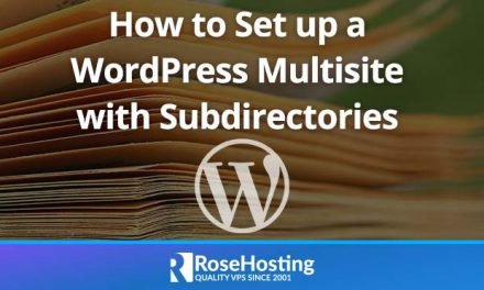 How to Set up WordPress Multisite with Subdirectories