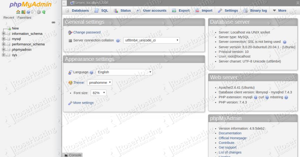 phpmyadmin installation on ubuntu 20.04
