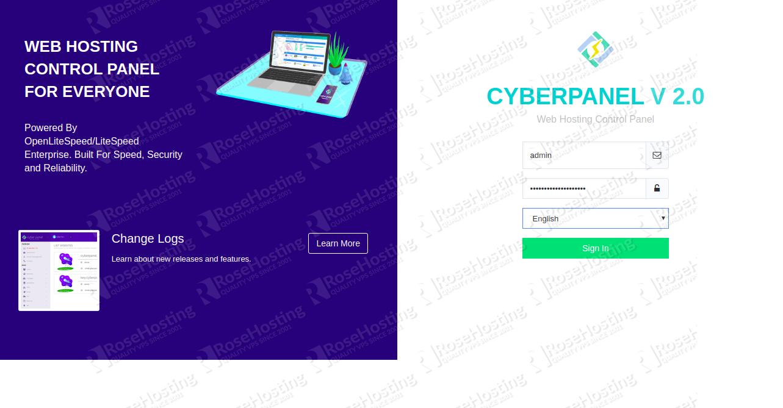 CyberPanel Login