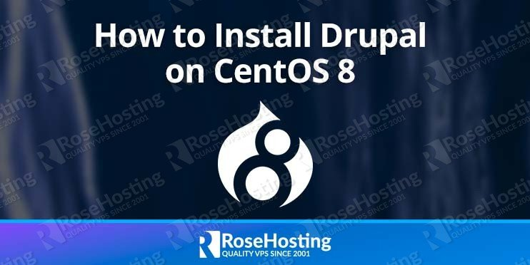install Drupal CMS CentOS 8